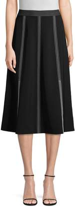 Lafayette 148 New York Yari High-Waisted Midi Skirt