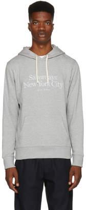 Saturdays NYC Grey Ditch Miller Standard Embroidered Hoodie
