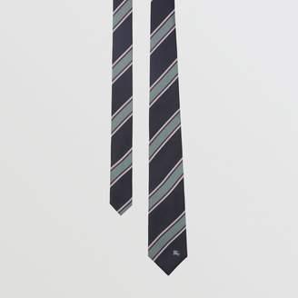 Burberry Modern Cut Striped Silk Jacquard Tie, Blue