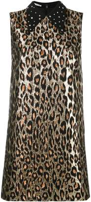Miu Miu metallic leopard printed dress