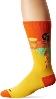 K. Bell K.Bell Black Label Men's Tiki Hula Crew Socks