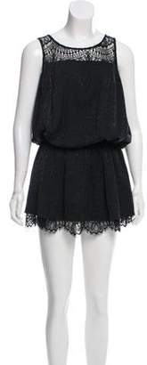 Opening Ceremony Lace-Accented Mini Dress Black Lace-Accented Mini Dress