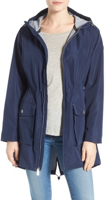 Petite Women's Michael Michael Kors Hooded Raincoat $138 thestylecure.com