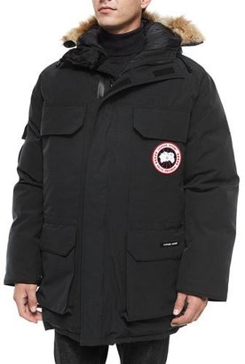 Canada Goose Expedition Parka w/Fur Trimmed Hood, Black $1,000 thestylecure.com