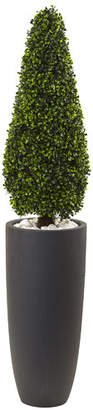 Nearly Natural Boxwood Topiary in Planter