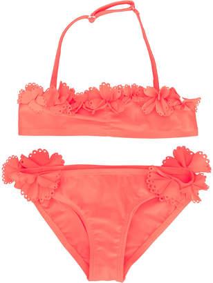 Lili Gaufrette floral scallop trim bikini
