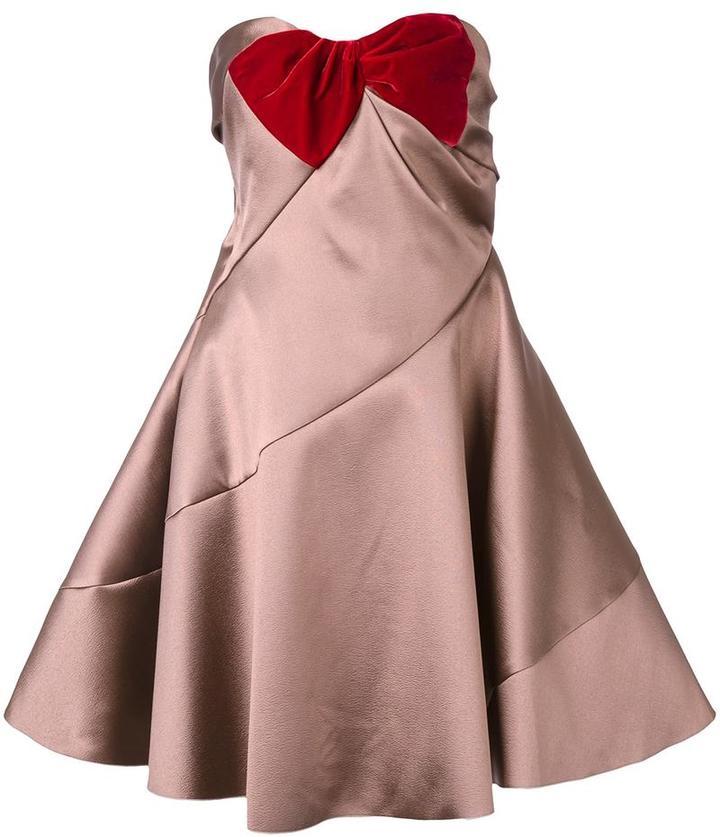 Paule KaPaule Ka strapless flared dress