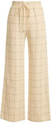 Zimmermann Stranded Threadbare wide-leg linen trousers