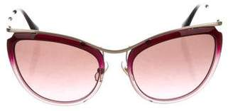 Miu Miu Cat-Eye Tinted Sunglasses