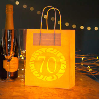 Baloolah Bunting 70th Birthday Party Bags Lanterns With Vellum