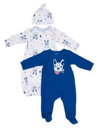 Vitamins Baby Vitamins Newborn Baby Boy Gown, Sleep 'N Play, and Hat, 3pc Set
