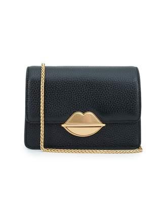 2b5ef3f9dfe7 Lulu Guinness Lip Push Lock Polly Chain Crossbody Bag Colour  BLACK