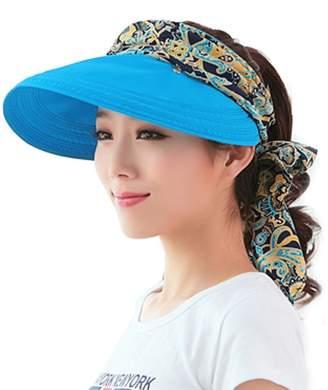 74e0b56b40a Yimidear® Women Summer Collapsible Wide Brim Sun Hat Visor Cap Anti UV Hat