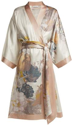 Carine Gilson Floral-print silk robe