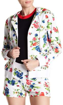 Love Moschino Fruit Printed Hooded Jacket