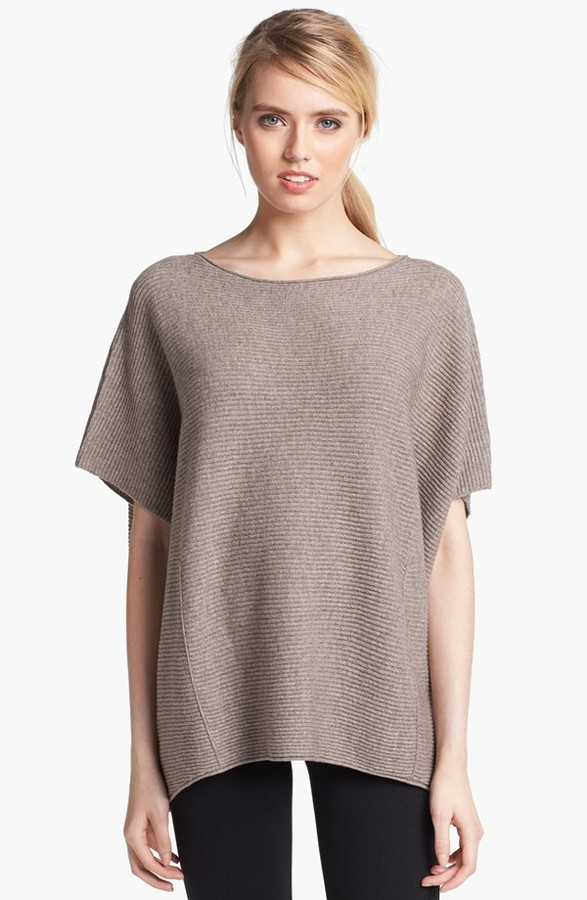 Vince Ribbed Poncho Sweater