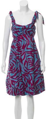 Marc Jacobs Silk Abstract Print Dress
