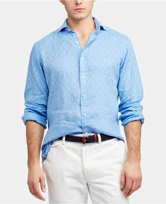4e563b7836 Polo Ralph Lauren Men Big   Tall Classic Fit Linen Shirt