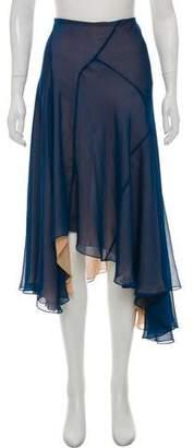 Chloé Midi Chiffon Overlay Skirt