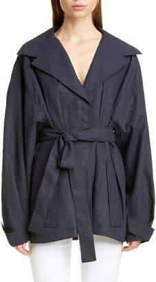 Jacquemus Le Manteau Claudia Court Linen Jacket