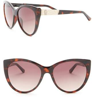 GUESS 57mm Cat Eye Sunglasses