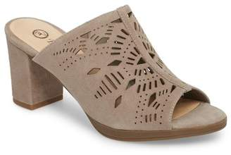 Bella Vita Lark Laser Perforated Slide Sandal