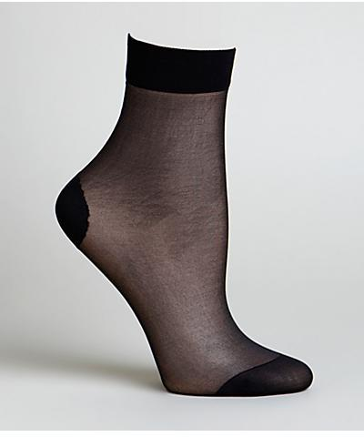DKNY Sheer Coverage Anklet Socks Panty Hose