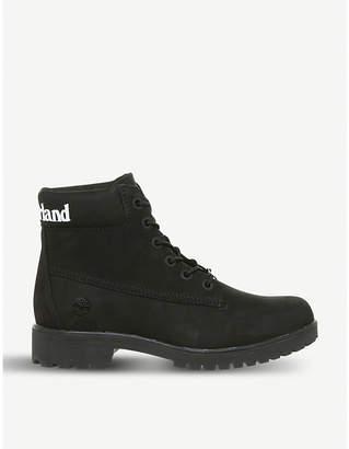 "Timberland Slim Logo 6"" nubuck boots"