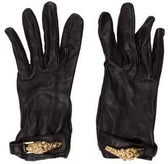 Gucci Leather Embellished Gloves