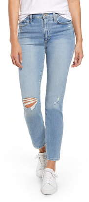 Joe's Jeans The Milla High Waist Ripped Ankle Straight Leg Jeans