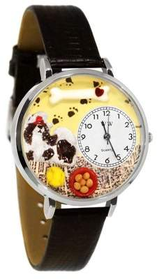 Whimsical Watches Shih-Tzu Watch in Silver (Large)