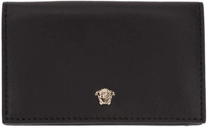 Versace Black Medusa Folded Card Holder