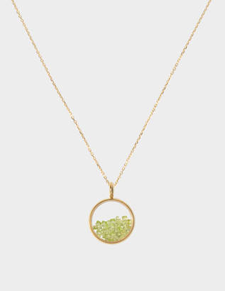 Aurelie Bidermann Yellow gold and sapphire glass baby medaillon with peridot