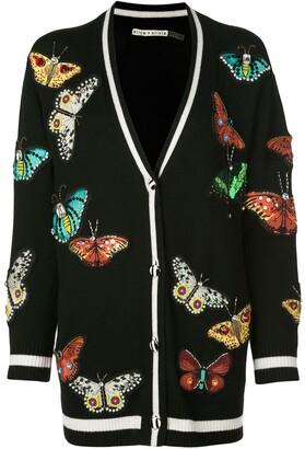Alice + Olivia Alice+Olivia Bradford butterfly-patch cardigan
