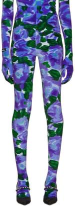 Richard Quinn Blue Floral Leggings