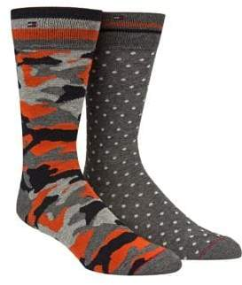 Tommy Hilfiger Two-Pack Camouflage Crew Socks