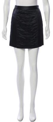 Milly Wool & Silk-Blend Mini Skirt