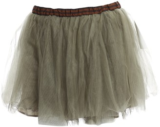 Fendi Khaki Synthetic Skirt