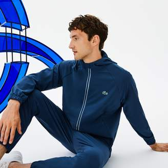Lacoste Men's SPORT Hooded Technical Midlayer Jacket x Novak Djokovic Off Court Premium Edition