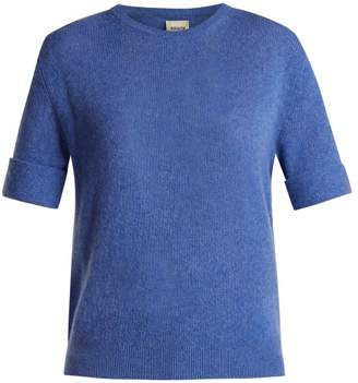 KHAITE Lydia Crew Neck Sweater - Womens - Blue