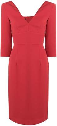 Pinko fitted V-neck dress