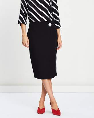 Dorothy Perkins Contrast Button Wrap Skirt