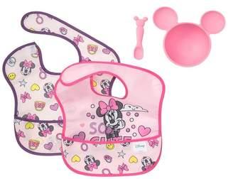 Bumkins Minnie Mouse Silicone First Feeding Set & Bib