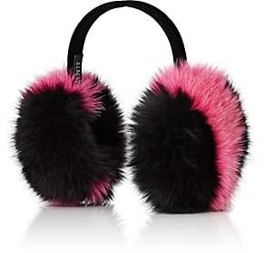 Barneys New York Women's Fox-Fur Earmuffs-Pink