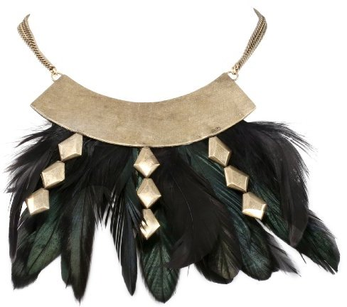 Citrine by the Stones Brass Plume Necklace