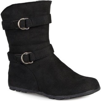 Co ONLINE Brinley Girl's Buckle and Strap Accent Mid-calf Boots