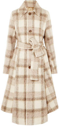 Acne Studios Checked Felt Coat - Beige