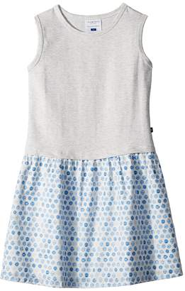 Toobydoo Sweet Grey and Soft Blue Tank Dress Girl's Dress
