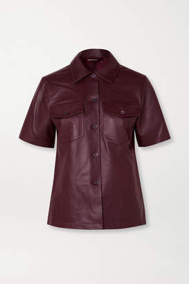 Sies Marjan Nico Leather Shirt - Burgundy