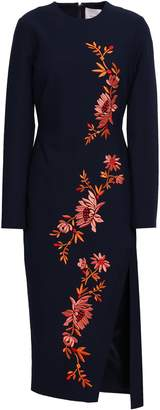 Cinq à Sept Embroidered Cady Midi Dress